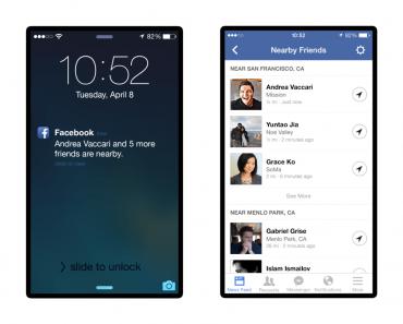 الفيسبوك يطلق ميزة مشاركة موقع تدعى بـاصدقاء مجاورين او Nearby Friends
