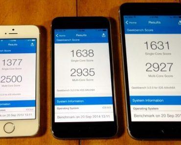 مقارنة بين اداء ايفون 5 اس ، ايفون 6 و الايفون 6 بلس