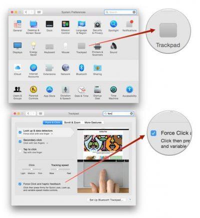 طريقة تشغيل و إيقاف خاصية Force Click على أجهزة الماك وكيفية تغيير الإعدادات الخاصة بها