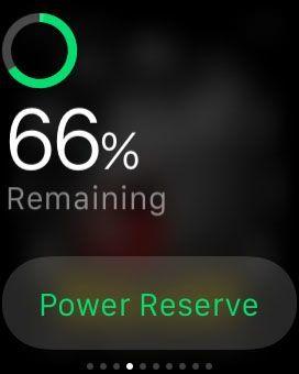 وضع الطاقة الاحتياطي في ساعة ابل