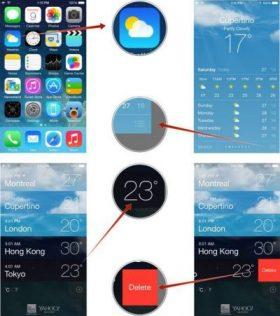 كيف تقوم بإضافة وحذف المواقع على تطبيق الأحوال الجوية الخاص بهواتف آيفون