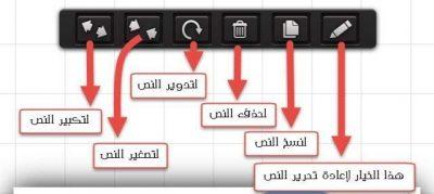شرح خيارات الكتابة على الصور