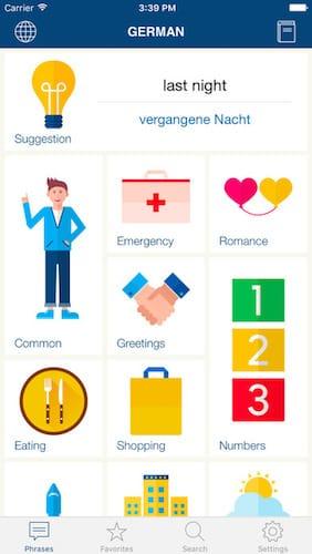 تطبيق Learn German لتعلم الألمانية للسفر إلى المانيا