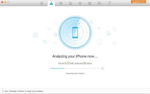 حذف البيانات غير المرغوب فيها بنظام التشغيل باستخدام تطبيق PhoneClean