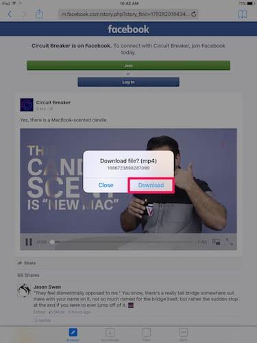 تحميل الفيديو