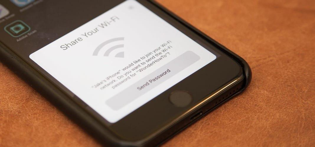 مشاركة كلمة سر الواي فاي iOS 11