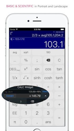 تطبيق CALC Swift تطبيق مدفوع مجاني لفترة