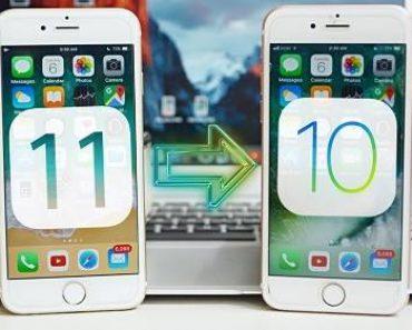 طريقة إلغاء تحديث iOS 11 و العودة إلى iOS 10.3.2