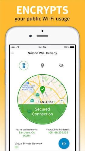 تطبيق Norton WiFi Privacy VPN تطبيق مدفوع مجاني لفترة