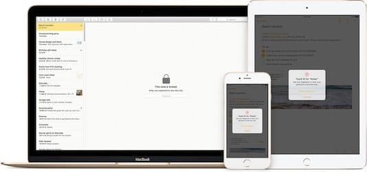 ابل تسهل الوصول لخيار حماية الملاحظات باستخدام البصمة في نظام iOS 11