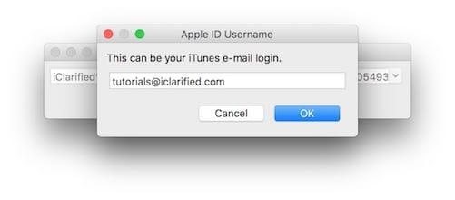 إدخال حساب Apple ID