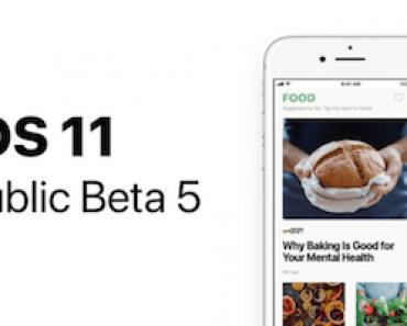 ابل تطلق النسخة التجريبية الخامسة الموجهة للعامة من نظام iOS 11