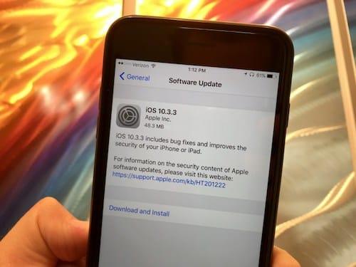 إصدار iOS 10.3.3