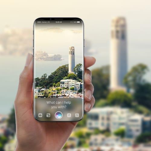 تصميم تخيلي لجهاز الايفون 8 يعرض المساعد الشخصي Siri