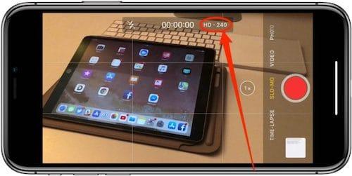 تطبيق الكاميرا على الايفون X