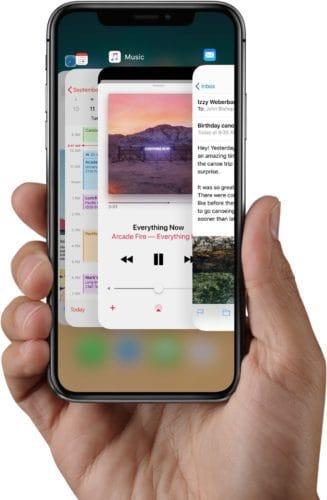 محول التطبيقات على الايفون X