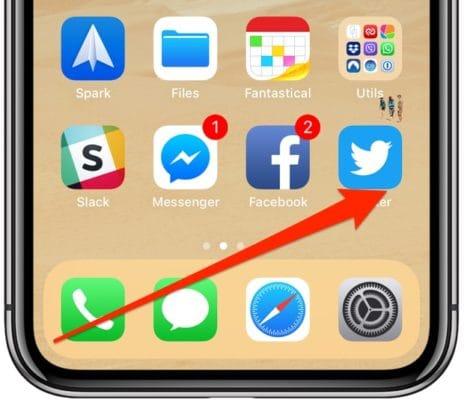 أسفل الشاشة الرئيسية على الايفون X