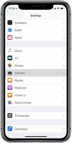 واجهة إعدادات نظام iOS على الايفون X
