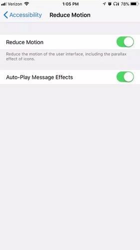 زيادة سرعة الايفون من خلال تقليل التأثيرات