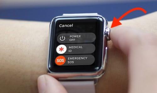 الضغط على الزر الدائري لإيقاف تشغيل التطبيق إجباريا