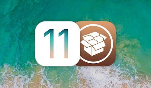 شعار iOS 11 مع شعار متجر السيديا