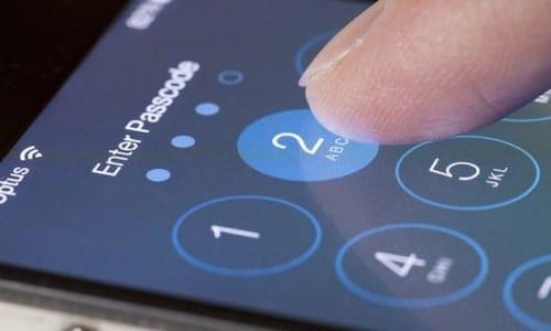 رمز الدخول على نظام iOS