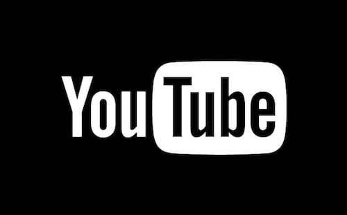 شعار اليوتوب بالنمط الليلي