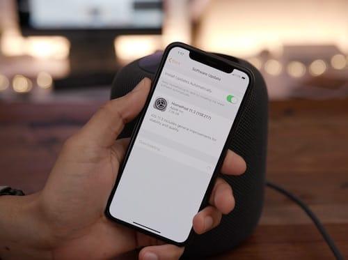 تحديث 11.3 لسماعات HomePod