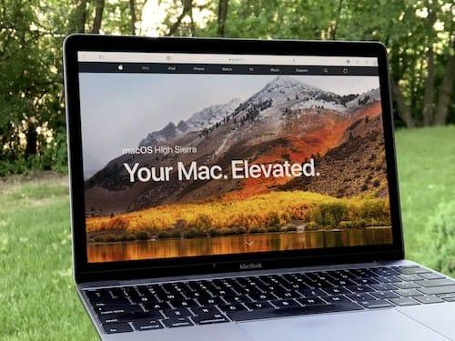 نظام macOS High Sierra على MacBook