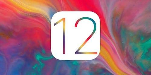 شعار إصدار iOS 12