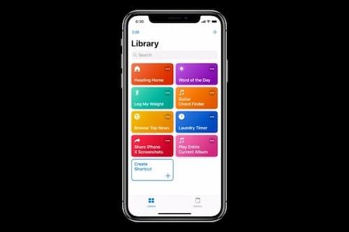 تطبيق الاختصارات  Shortcuts app