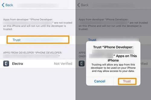 الوثوق بجيلبريك iOS 11.3.1