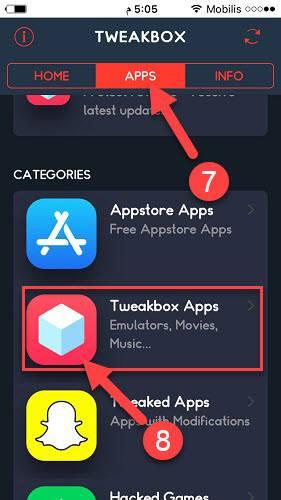 تحميل التطبيقات من متجر Tweakbox