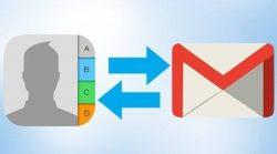 شرح طريقة استيراد الاسماء من Gmail للايفون