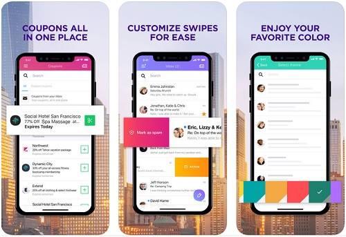 واجهة تطبيق بريد ياهو على ايفون 10 من متجر التطبيقات
