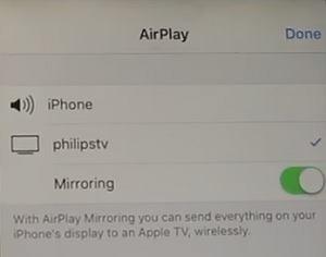 شبك الايفون على شاشه سمارت بالواي فاي (الميزة تدعم شغيل الايفون على شاشة سامسونج أو اندرويد)