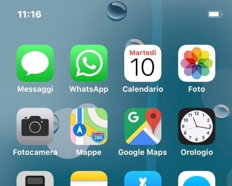 واجهة الايفون بدون شعار حالة الشبكة