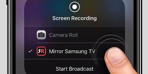 شبك الايفون على شاشه سمارت باستخدامبرنامج شغيل الايفون على شاشة سامسونج AirBeamTV