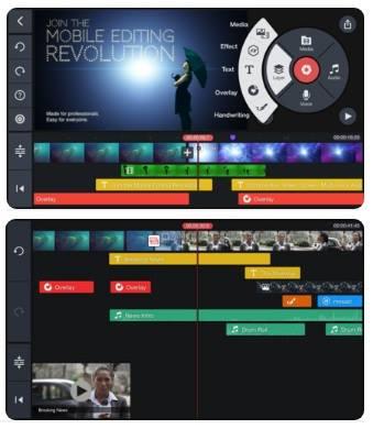 افضل برنامج تصميم فيديو للايفون 10 KineMaster