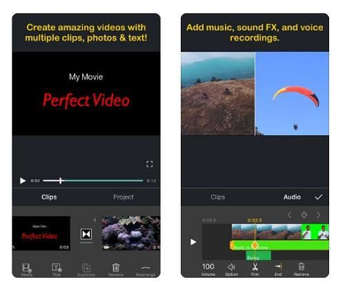 لقطة شاشة لافضل برنامج تصميم فيديو للايفون للتحكم في الخلفيةPerfect Video Editor