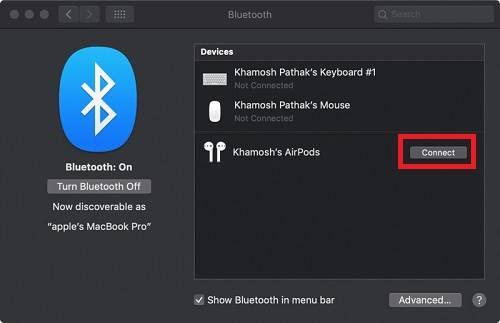 حل مشكلة عدم اقتران سماعات AirPods بحواسيب Mac