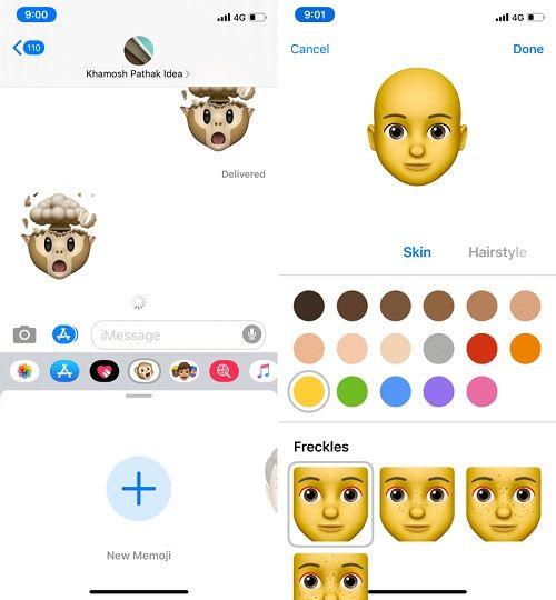 انشاء وجوه ميموجي على كل أجهزة الايفون iOS 13