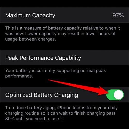 شحن البطارية المحسن في iOS 13.1