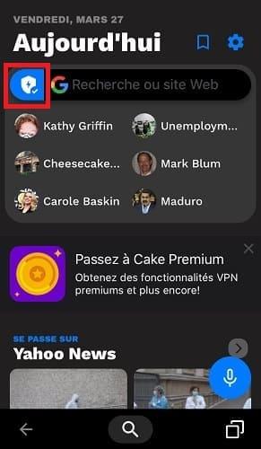تفعيل متصفح Cake لفتح المواقع المحجوبة بالآيفون