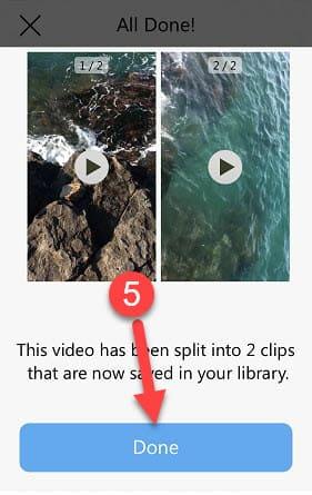 تقسيم فيديو طويل لمقاطع 30 ثانية ورفعه على الواتس اب