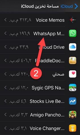 بيانات التطبيقات على iCloud