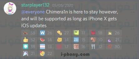 أخبار جلبريك شميرا 13 بدون كمبيوتر Chimera1n iOS 13.4.5