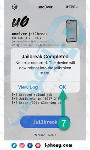 اكتمال جلبريك iOS 13.5 بدون كمبيوتر