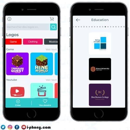 لقطات شاشة من تطبيق مصمم الشعارات للايفون Logo Maker- Create a design