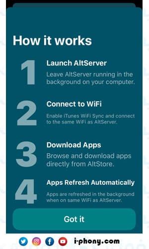 شرح كيفية تحميل البرامج من متجر AltStore